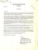 Alumni Association letter for 1957 Homecoming