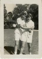 F Club Members Cappy Longstreth and Linda Broderick Hugging