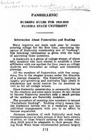 Panhellenic Rushing Rules for 1952-1953