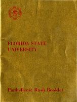 Panhellenic Rush Booklet (1959-1960)