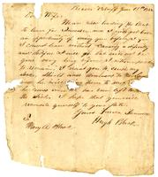 Letter from Hugh Black to Mary A. Black. June 13, 1862
