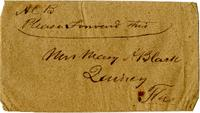 Envelope addressed to Mary A. Black