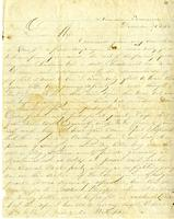 Letter from Hugh Black to Mary A. Black. December 26, 1862