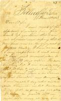 Letter from Hugh Black to Mary Black. June 18, 1863