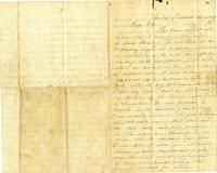 Letter from Hugh Black to Mary Ann Black. August 15, 1862