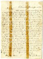 Letter from Hugh Black to Mary Ann Black. June 24, 1862