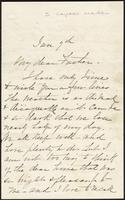 Letter from Susan Fairbanks to her father John Beard, Jan. 7th