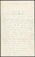 Letter from George R. Fairbanks to Major John Beard, November 23, 1873