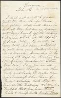 Letter from Susan Fairbanks to her father John Beard, Sewanee, Feb. 1st