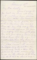 Letter from Susan Fairbanks to her father John Beard, February 19th