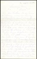Letter from Susan Fairbanks to her father John Beard, March 7th