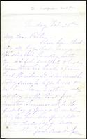Letter from Susan Fairbanks to her father John Beard, February 28th, page 1