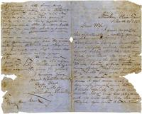 Letter from Hugh Black to Mary Ann Black. March 16, 1863