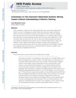 Commentary on two classroom observation systems