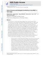 Factor structure and aetiological architecture of the BRIEF