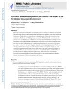 Children's behavioral regulation and literacy