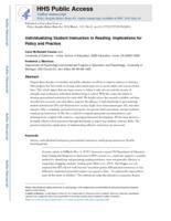 Individualizing Student Instruction in Reading