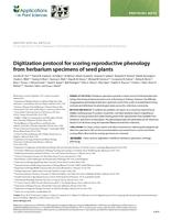 Digitization Protocol For Scoring Reproductive Phenology From Herbarium Specimens Of Seed Plants