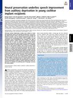 Neural Preservation Underlies Speech Improvement From Auditory Deprivation In Young Cochlear Implant Recipients