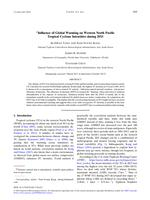Influence Of Global Warming On Western North Pacific Tropical Cyclone Intensities During 2015