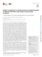 Relative Contributions Of Halobacteriovorax And Bacteriophage To Bacterial Cell Death Under Various Environmental Conditions