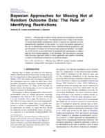 Bayesian Approaches For Missing Not At Random Outcome Data