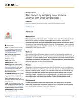 Bias Caused By Sampling Error In Meta-analysis With Small Sample Sizes
