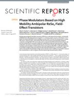Phase Modulators Based On High Mobility Ambipolar Rese2 Field-effect Transistors
