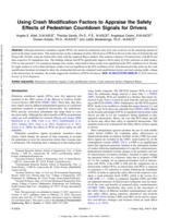 Using Crash Modification Factors To Appraise The Safety Effects Of Pedestrian Countdown Signals For Drivers