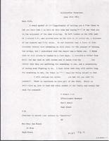 Letter from Hugh Black to Mary Ann Black. June 14, 1863