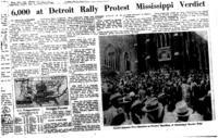 6,000 at Detroit Rally Protest Mississippi Verdict, Detroit Free Press