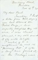Congratulatory letter from Paul Dirac's aunt Lu on his obtaining of the Nobel Prize