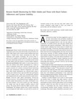Remote Health Monitoring for Older Adults and Those with Heart Failure