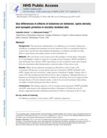 Sex Differences in Effects of Ketamine on Behavior, Spine Density, and Synaptic Proteins in Socially Isolated Rats.