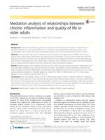 Mediation analysis of relationships between chronic inflammation and quality of life in older adults.