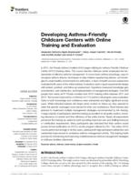 Developing Asthma-Friendly Childcare Centers with Online Training and Evaluation.