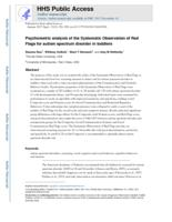 Psychometric analysis of the Systematic Observation of Red Flags for autism spectrum disorder in toddlers.
