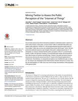 """Mining Twitter to Assess the Public Perception of the """"Internet of Things""""."""