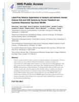 Label-Free Relative Quantitation of Isobaric and Isomeric Human Histone H2A and H2B Variants by Fourier Transform Ion Cyclotron Resonance Top-Down MS/MS.