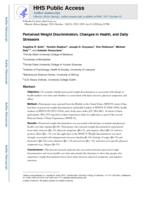 Perceived weight discrimination, changes in health, and daily stressors.