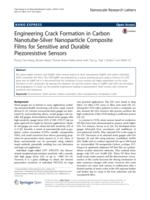 Engineering Crack Formation in Carbon Nanotube-Silver Nanoparticle Composite Films for Sensitive and Durable Piezoresistive Sensors.