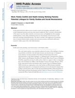 Work-Family Conflict and Health Among Working Parents