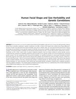 Human Facial Shape and Size Heritability and Genetic Correlations.