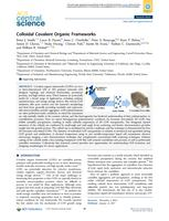Colloidal Covalent Organic Frameworks.
