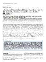 Alteration of Neuronal Excitability and Short-Term Synaptic Plasticity in the Prefrontal Cortex of a Mouse Model of Mental Illness.