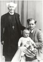 Vicar Henry Whitehead I standing beside son Henry Whitehead II, and infant grandson Henry Whitehead III