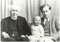 Vicar Henry Whitehead I posing with son, Henry Whitehead II, and infant grandson Henry Whitehead III