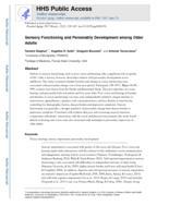 Sensory functioning and personality development among older adults.