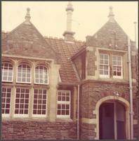 Bristol. Closeup of a building at the Bishop Road Primary School