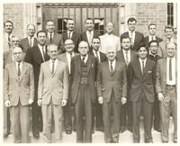 Cincinnati. Paul Dirac and E. P. Wigner in group portrait at Xavier University